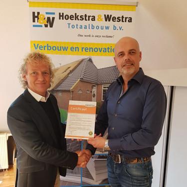DOE Certificaat Hoekstra en Westra Totaalbouw