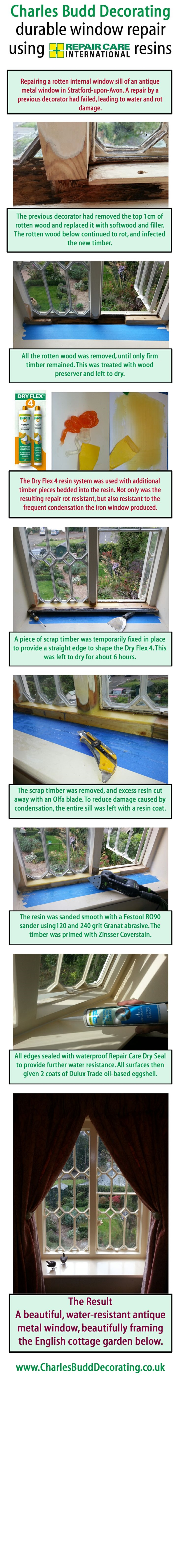 Interior window repair